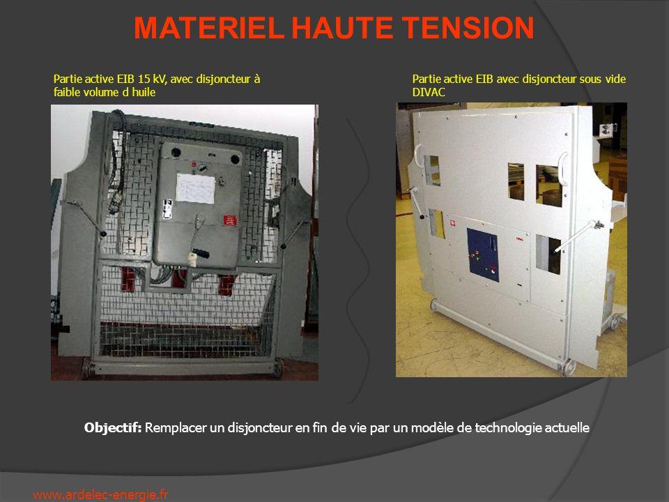www.ardelec-energie.fr MATERIEL HAUTE TENSION Partie active EIB 15 kV, avec disjoncteur à faible volume d huile Partie active EIB avec disjoncteur sou