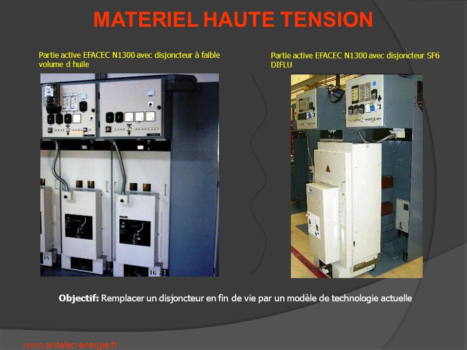 www.ardelec-energie.fr MATERIEL HAUTE TENSION Partie active EFACEC N1300 avec disjoncteur à faible volume d huile Partie active EFACEC N1300 avec disj