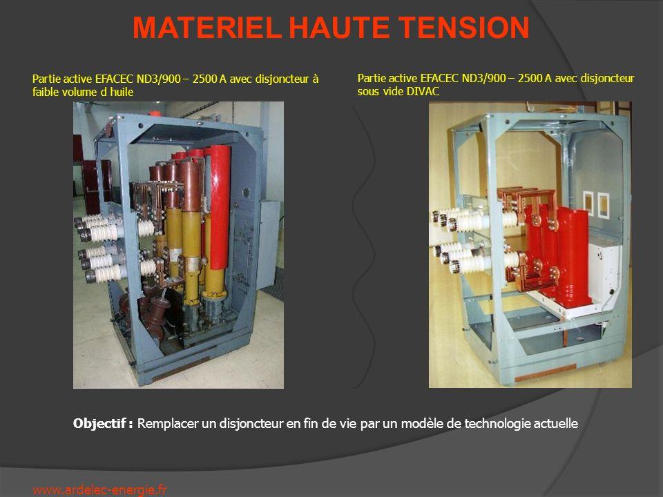 www.ardelec-energie.fr MATERIEL HAUTE TENSION Partie active EFACEC ND3/900 – 2500 A avec disjoncteur à faible volume d huile Partie active EFACEC ND3/