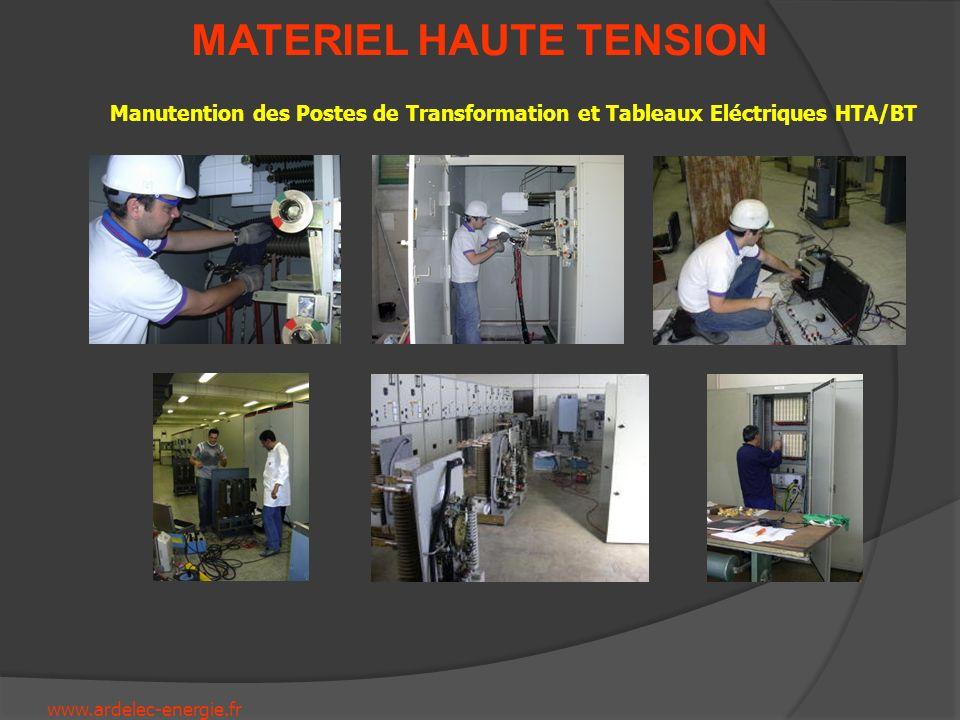 www.ardelec-energie.fr MATERIEL HAUTE TENSION Réparation et amélioration déquipement HTA