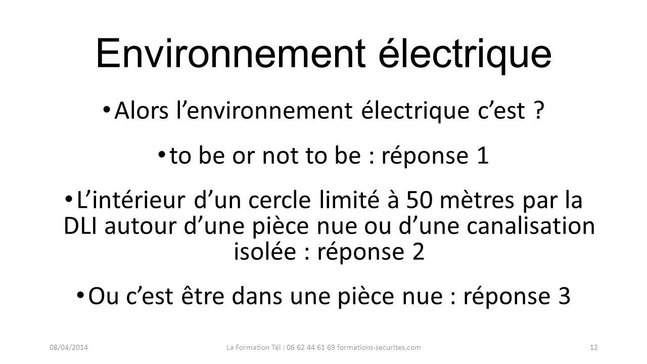 Environnement électrique Allez on résume une dernière fois ? Dabord réfléchissons comment lexpliquer ? En commençant par le titre simplement non ? 08/