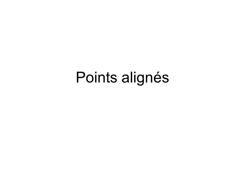 Reconnaître des points alignés Placer des points alignés