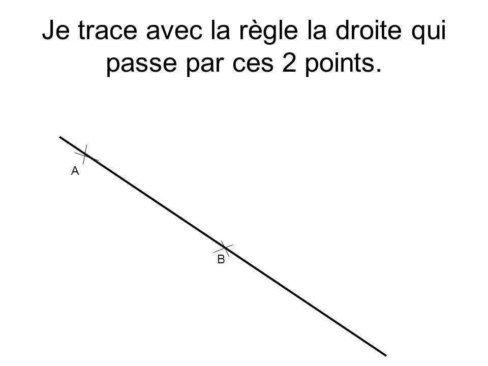 Je trace avec la règle la droite qui passe par ces 2 points. A B