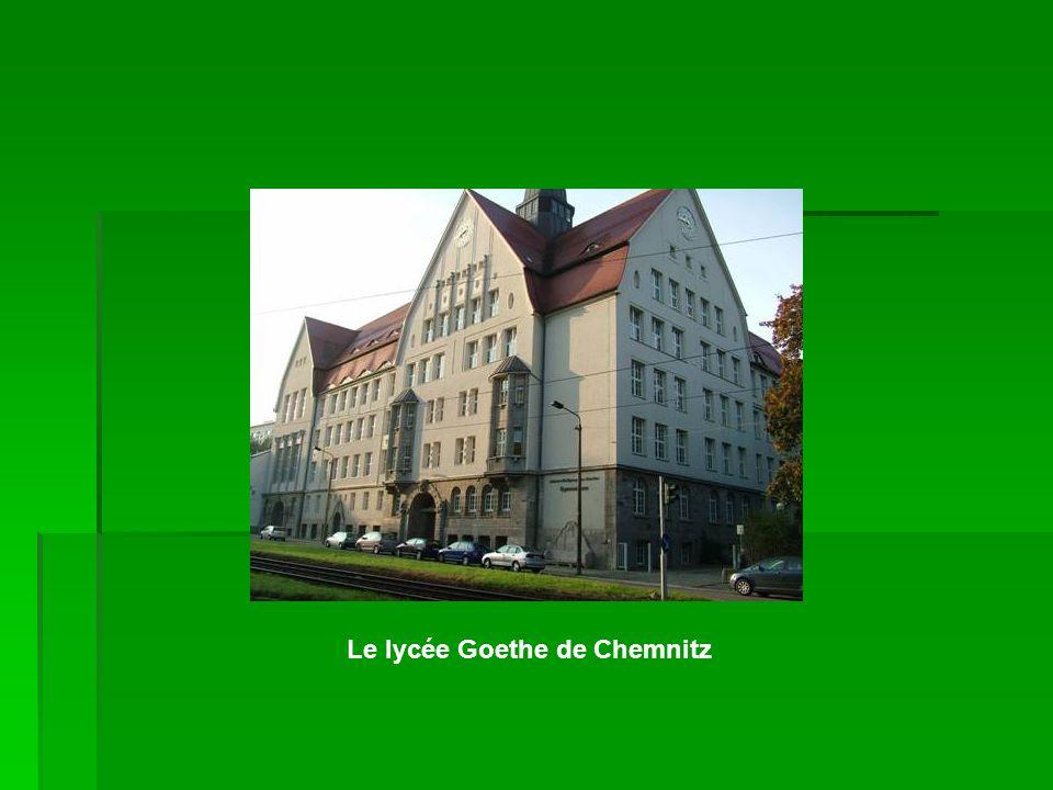Le lycée Goethe de Chemnitz
