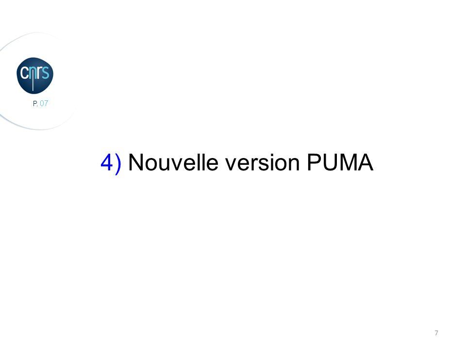 P. 07 7 4) Nouvelle version PUMA