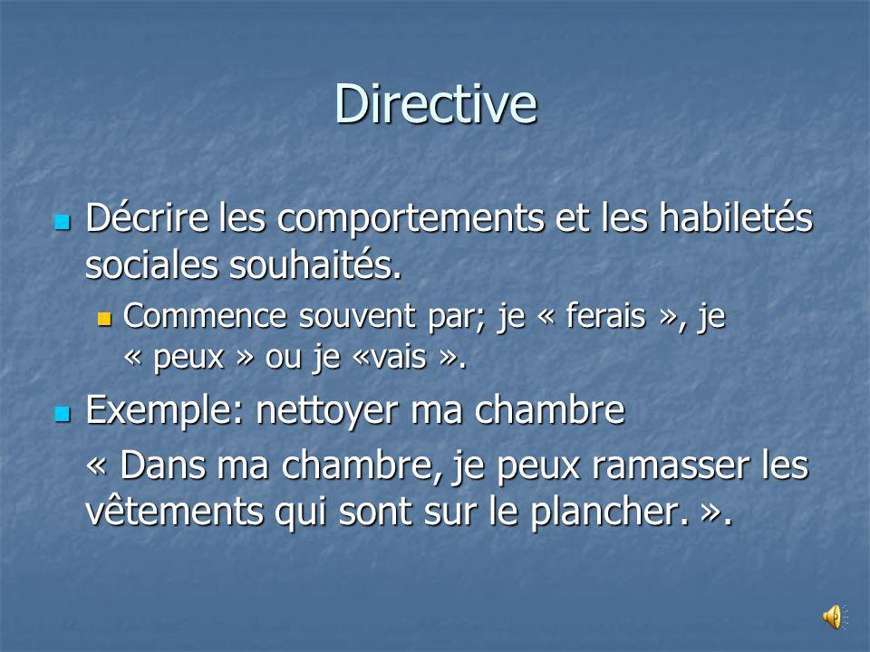 Descriptive Décrire la situation avec objectivité: Décrire la situation avec objectivité: Lieux. Lieux. Personne impliquée. Personne impliquée. Action