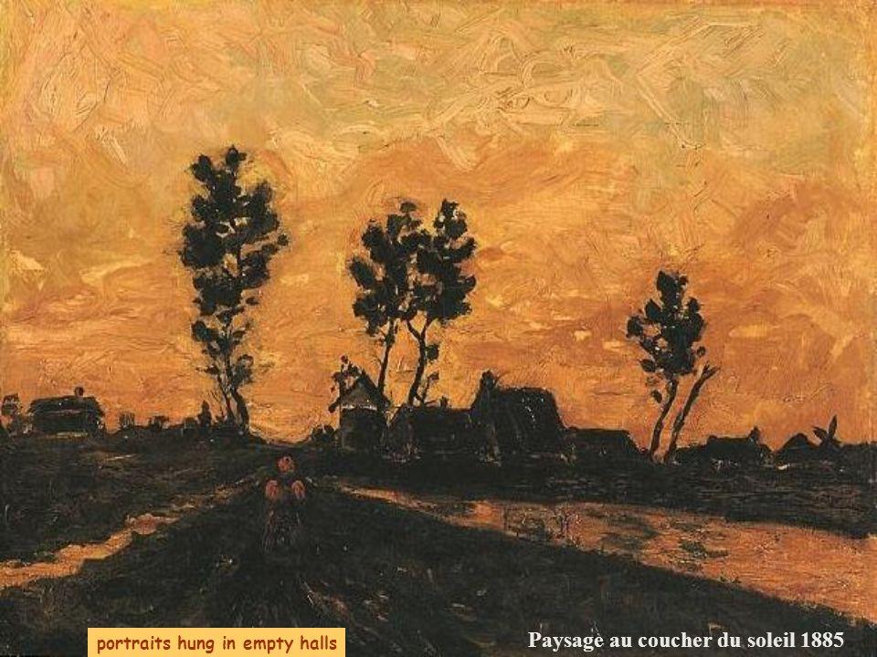 Starry, starry night La chaumière avec des arbres 1885