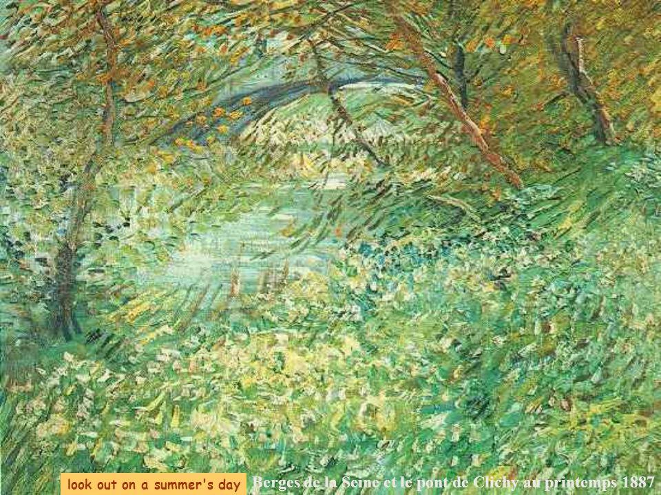look out on a summer s day Berges de la Seine et le pont de Clichy au printemps 1887