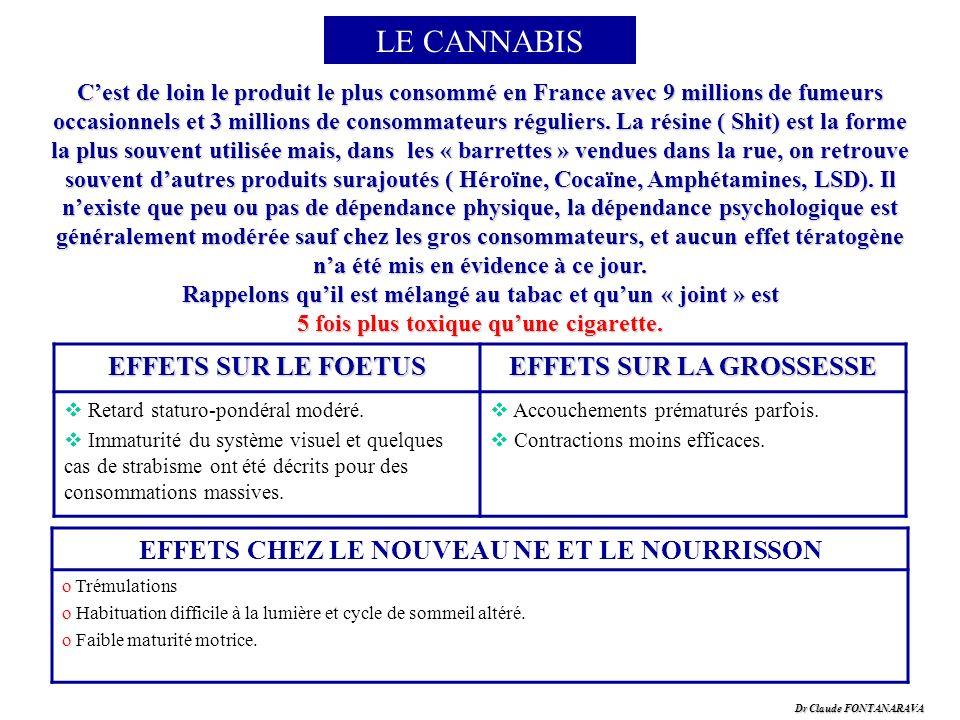Dr Claude FONTANARAVA LE CANNABIS Cest de loin le produit le plus consommé en France avec 9 millions de fumeurs occasionnels et 3 millions de consomma
