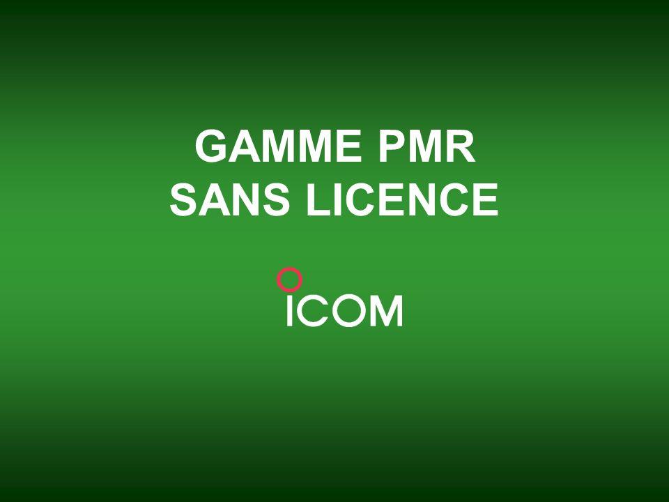 ICOM France _ Juin 2008 3 Portatifs sans licence Offrez vous des communications gratuites .