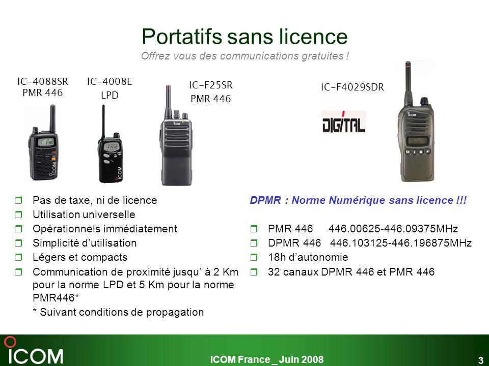 ICOM France _ Juin 2008 24 I.