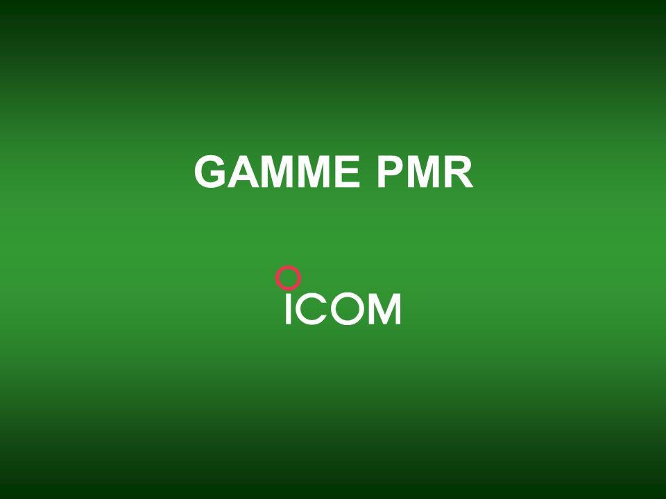 ICOM France _ Juin 2008 5 Gamme professionnelle PMR ICOM propose une large gamme déquipements très complète destinée aux professionnels.