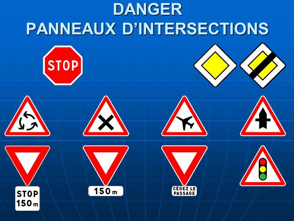 DANGER PANNEAUX DINTERSECTIONS