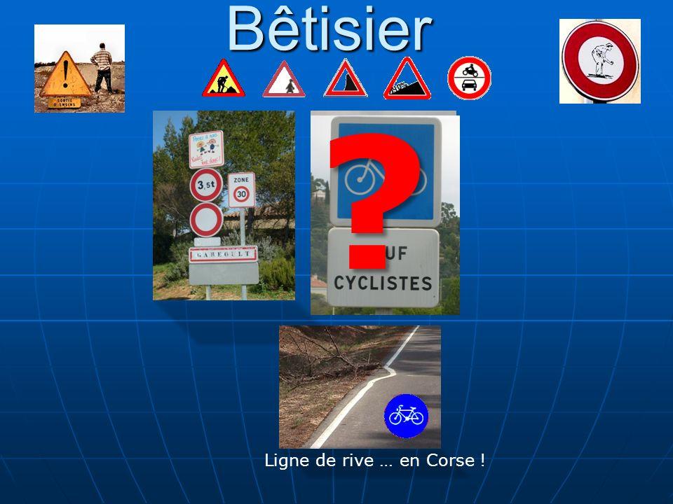 Bêtisier Ligne de rive … en Corse ! ?