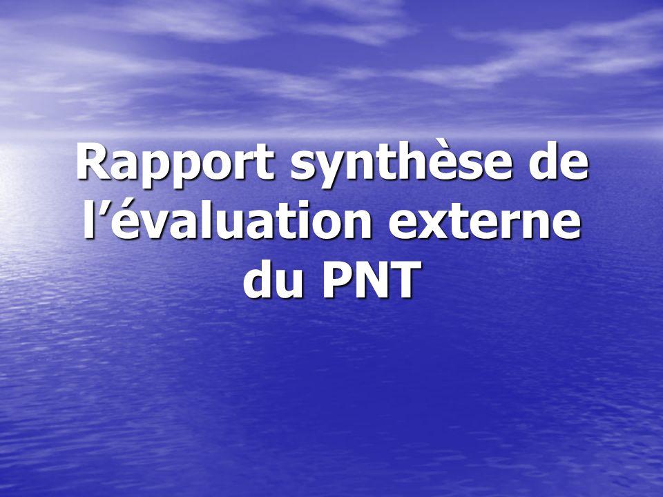 Rapport synthèse de lévaluation externe du PNT