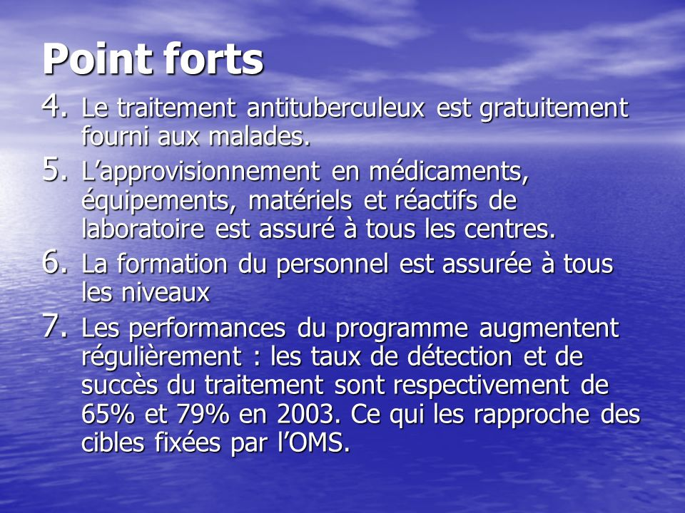 Point forts 8.