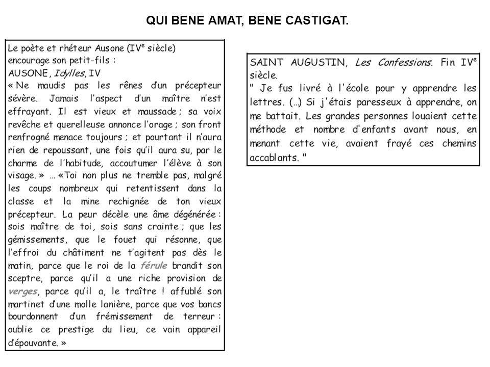QUI BENE AMAT, BENE CASTIGAT.