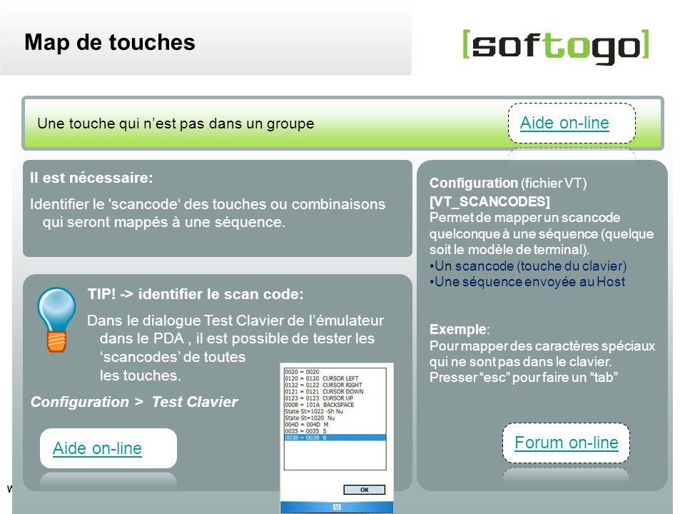 11 WireLess TelNet – configuration usuelle www.softogo.com Il est nécessaire: Identifier le 'scancode des touches ou combinaisons qui seront mappés à