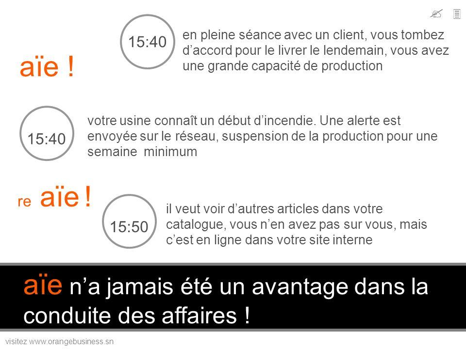 visitez www.orangebusiness.sn votre usine connaît un début dincendie. Une alerte est envoyée sur le réseau, suspension de la production pour une semai