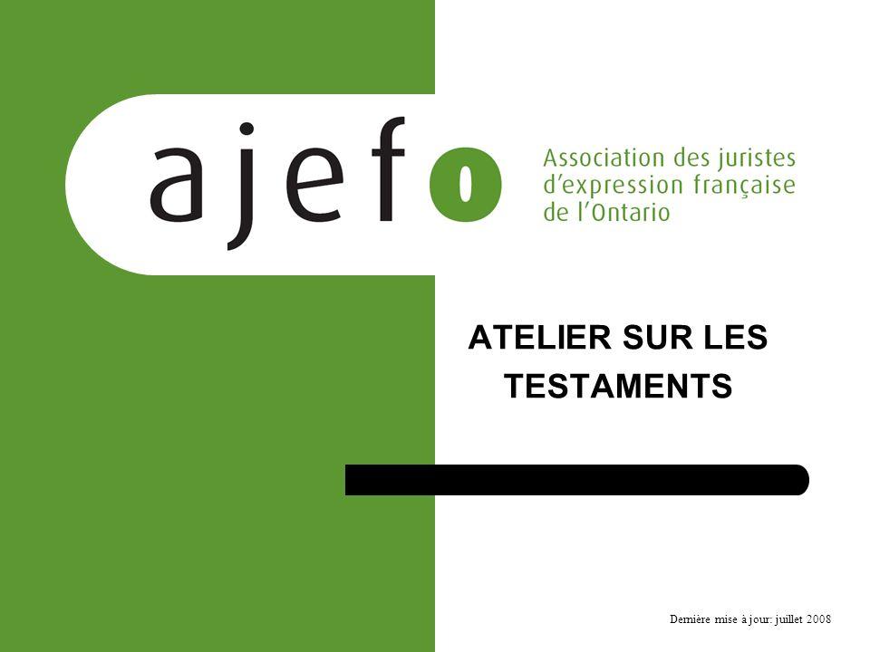 Les testaments – Déroulement de la conférence Limportance du testament Décès sans testament – que se passe-t-il .