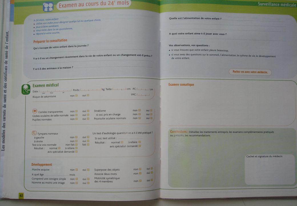 Carnet de santé 2 ans Carnet de santé 2 ans