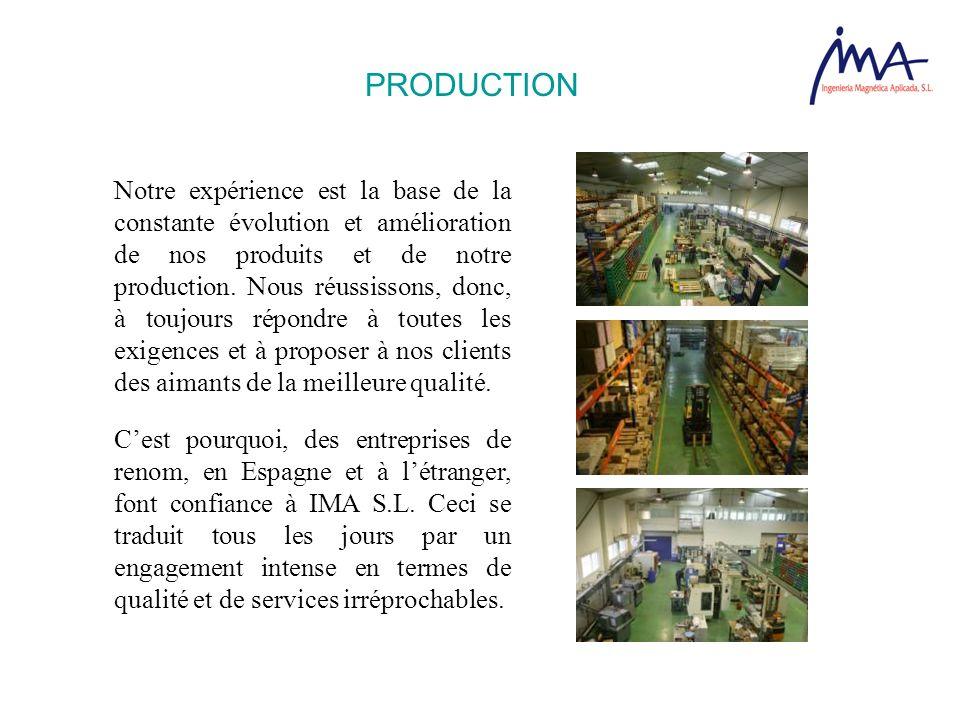 Notre expérience est la base de la constante évolution et amélioration de nos produits et de notre production. Nous réussissons, donc, à toujours répo