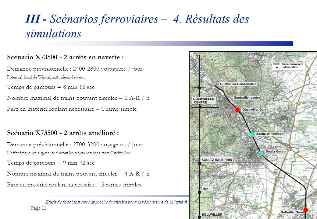 Etude de faisabilité avec approche financière pour la réouverture de la ligne ferroviaire entre Bollwiller et Guebwiller aux voyageurs Page 12 III - Scénarios ferroviaires – 4.