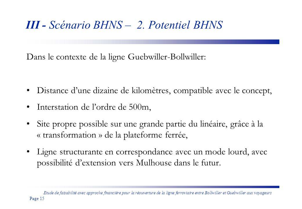 Etude de faisabilité avec approche financière pour la réouverture de la ligne ferroviaire entre Bollwiller et Guebwiller aux voyageurs Page 16 III - Scénario BHNS – 3.