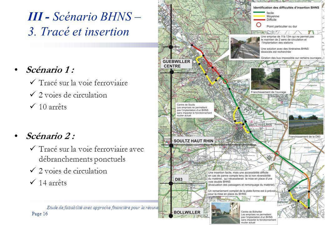 Etude de faisabilité avec approche financière pour la réouverture de la ligne ferroviaire entre Bollwiller et Guebwiller aux voyageurs Page 17 III - Scénario BHNS – 3.