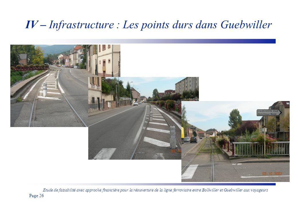 Etude de faisabilité avec approche financière pour la réouverture de la ligne ferroviaire entre Bollwiller et Guebwiller aux voyageurs Page 27 IV – Infrastructure : Etude acoustique (4 AR/h)