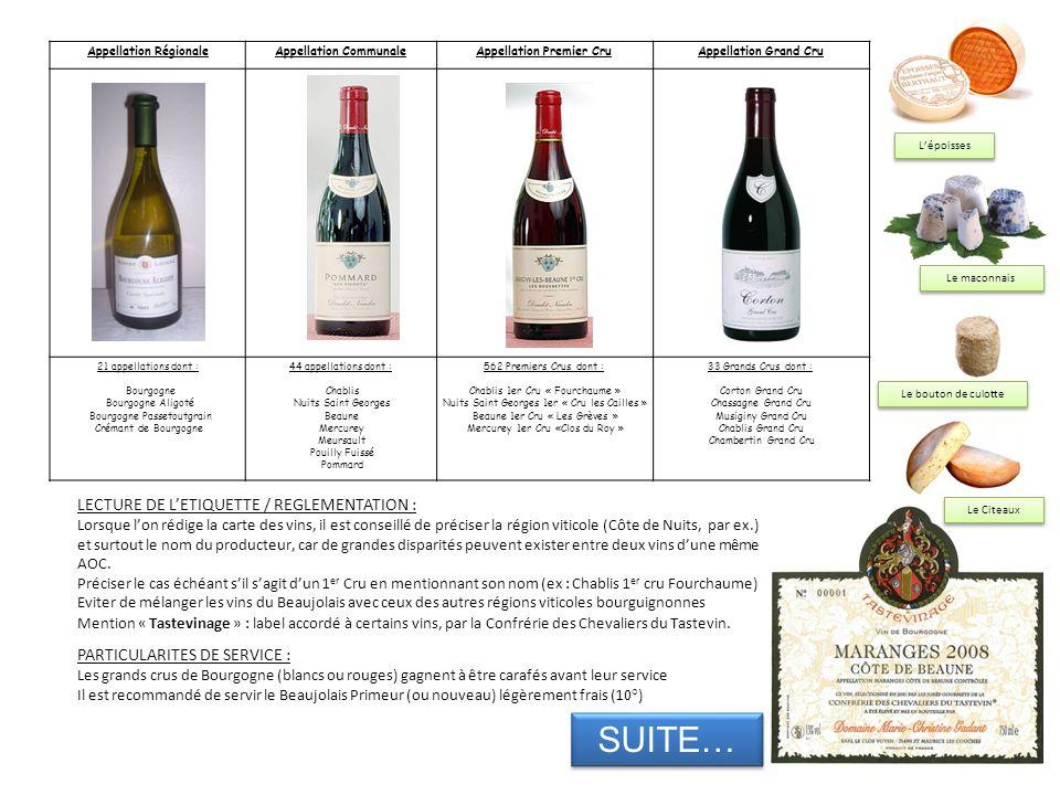 Appellation RégionaleAppellation CommunaleAppellation Premier CruAppellation Grand Cru 21 appellations dont : Bourgogne Bourgogne Aligoté Bourgogne Pa