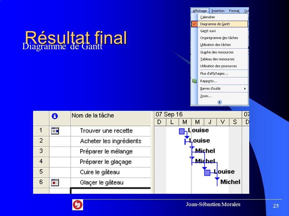 Joan-Sébastien Morales 24 Audit des ressources Pour identifier les problèmes de répartition des ressources.