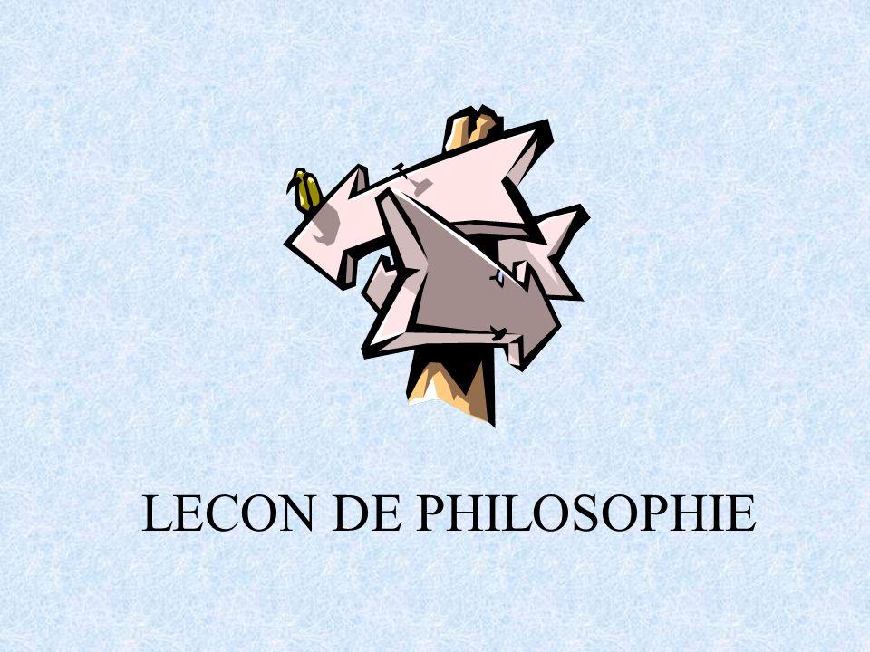 LECON DE PHILOSOPHIE
