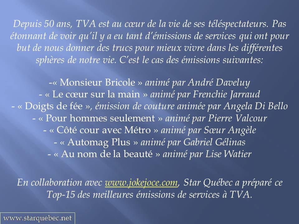 Depuis 50 ans, TVA est au cœur de la vie de ses téléspectateurs. Pas étonnant de voir quil y a eu tant démissions de services qui ont pour but de nous