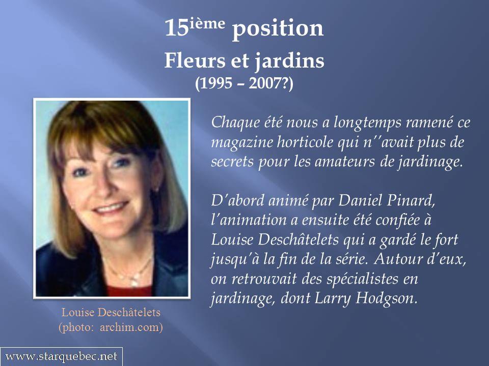Prenez le volant (1999 – 2000) 14 ième position Un magazine sur lautomobile ne pouvait pas trouver meilleurs animateurs que Jacques Duval et Michel Barrette.