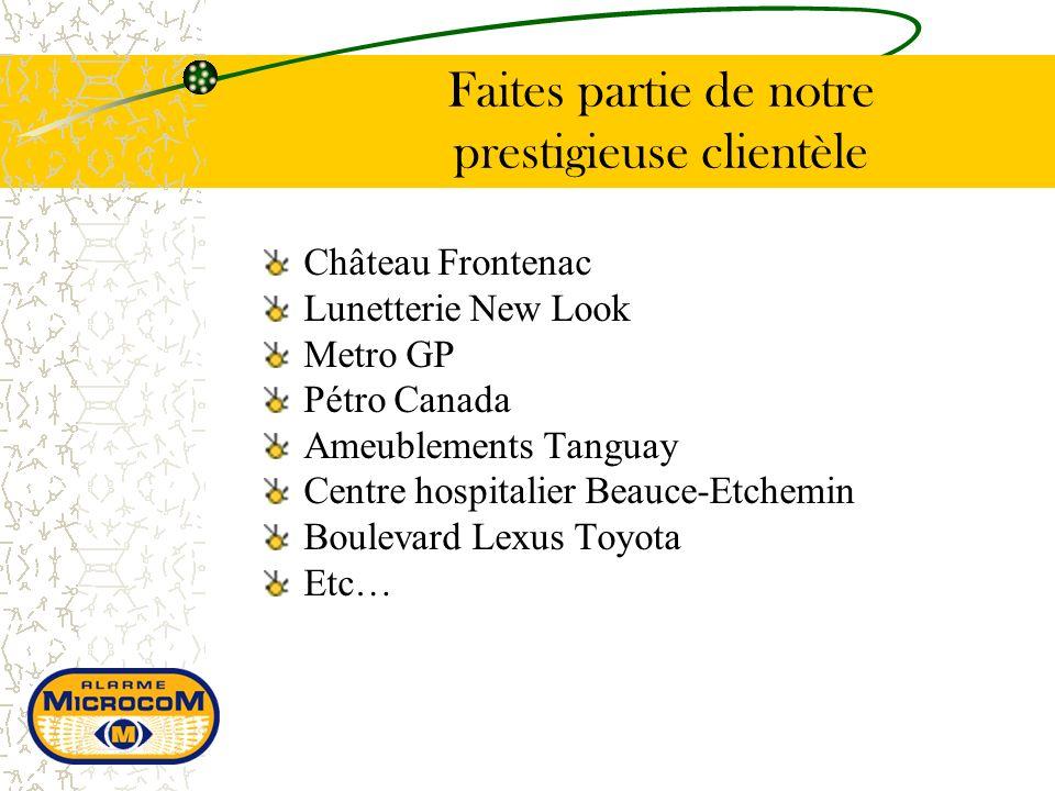 Château Frontenac Lunetterie New Look Metro GP Pétro Canada Ameublements Tanguay Centre hospitalier Beauce-Etchemin Boulevard Lexus Toyota Etc… Faites partie de notre prestigieuse clientèle