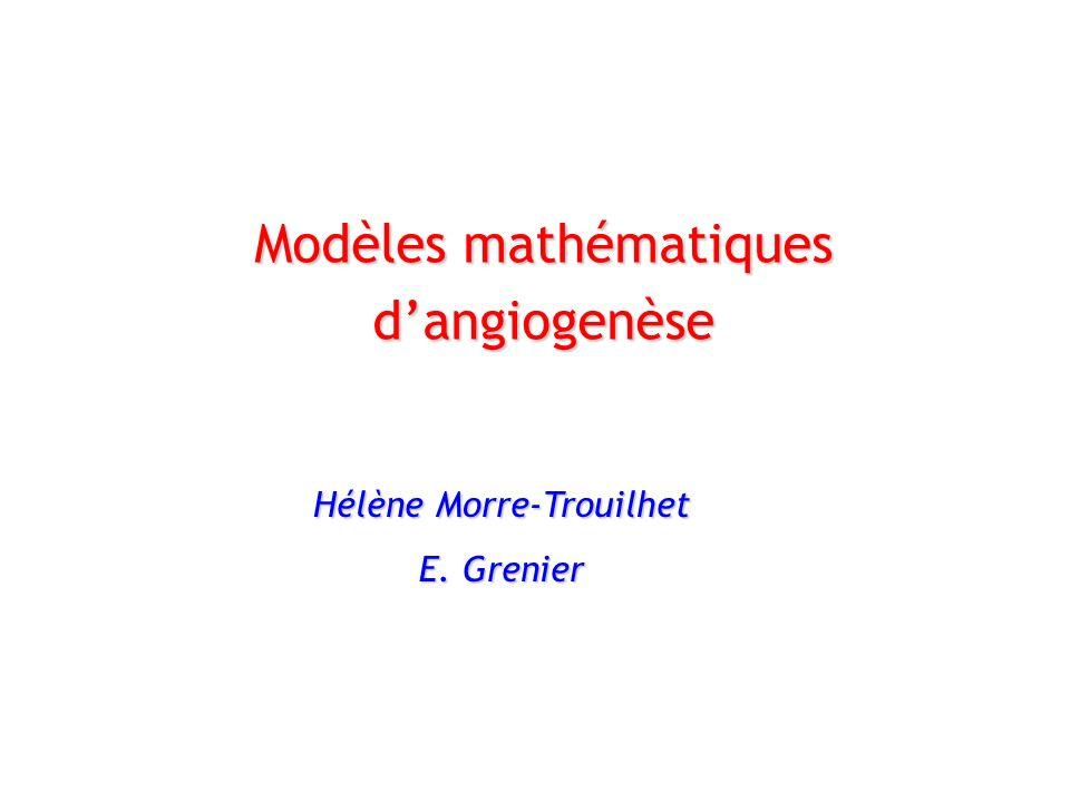 Modèles mathématiques dangiogenèse Hélène Morre-Trouilhet E. Grenier