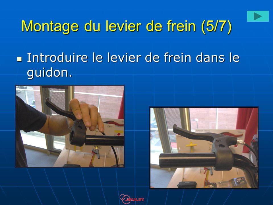 Montage du levier de frein (5/7) Introduire le levier de frein dans le guidon. Introduire le levier de frein dans le guidon.