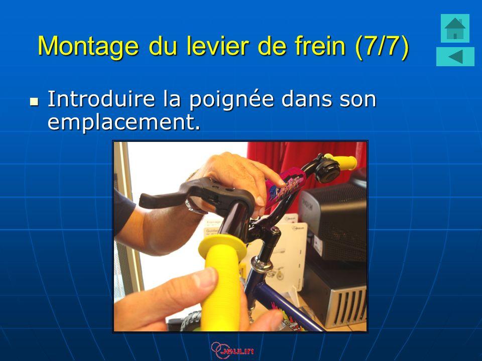 Montage du levier de frein (7/7) Introduire la poignée dans son emplacement. Introduire la poignée dans son emplacement.