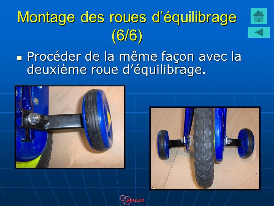 Montage des roues déquilibrage (6/6) Procéder de la même façon avec la deuxième roue déquilibrage. Procéder de la même façon avec la deuxième roue déq