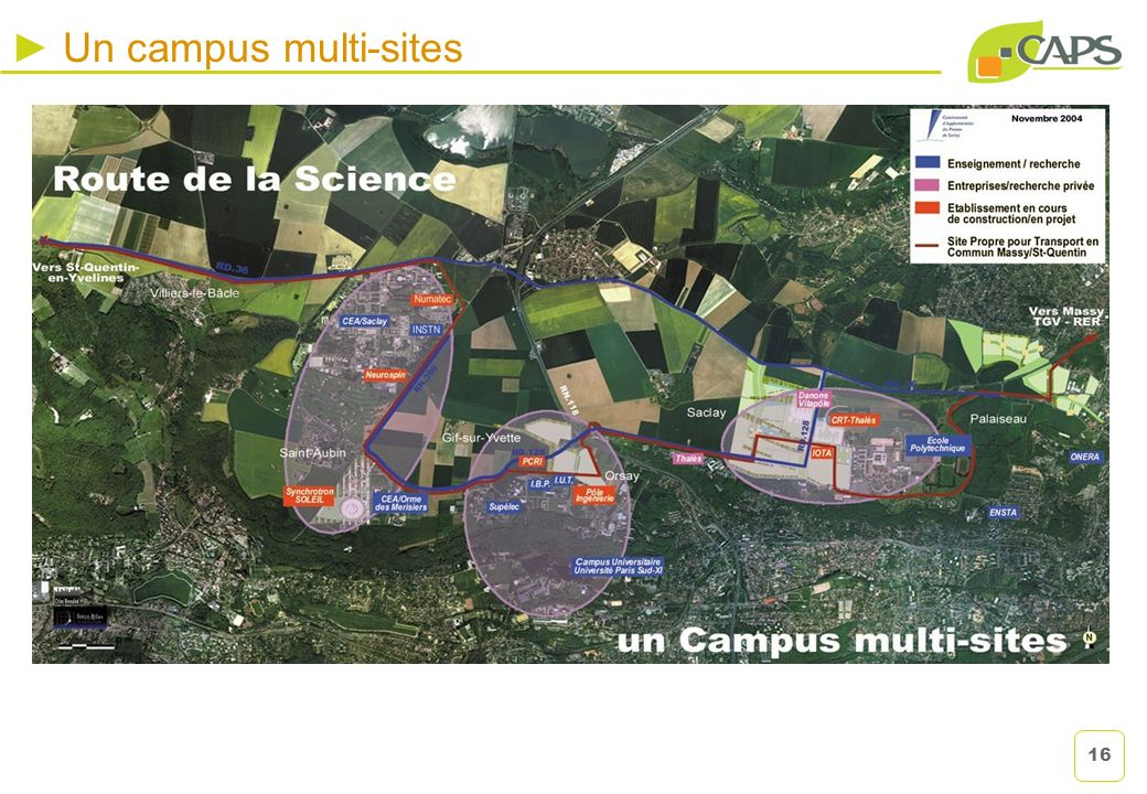 Un campus multi-sites 16