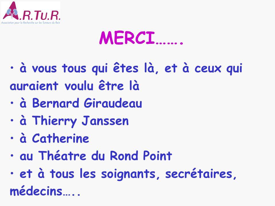MERCI……. à vous tous qui êtes là, et à ceux qui auraient voulu être là à Bernard Giraudeau à Thierry Janssen à Catherine au Théatre du Rond Point et à