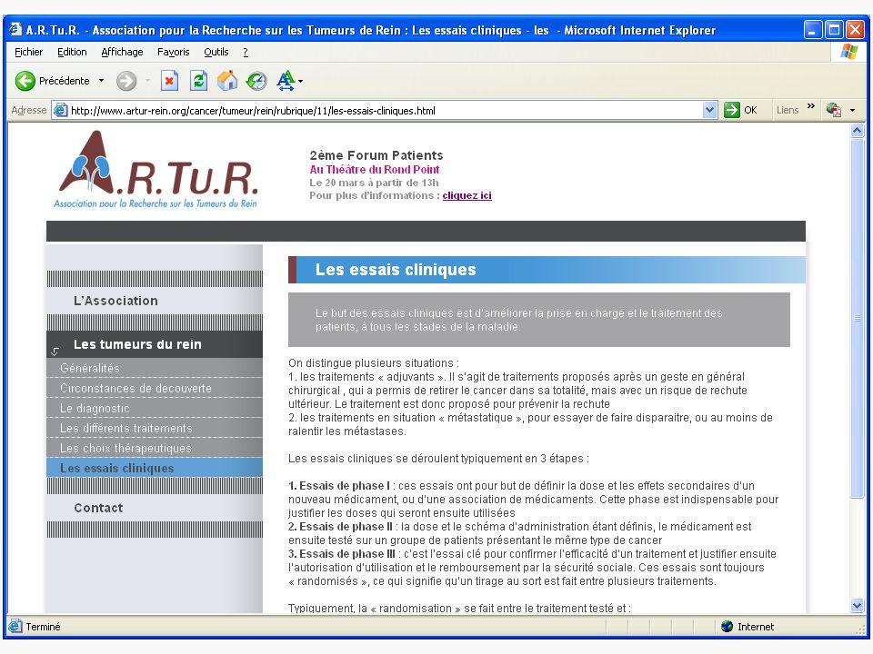 Forum ARTUR 2ème Forum de patients 20 Mars 2008 http://www.artur-rein.org/