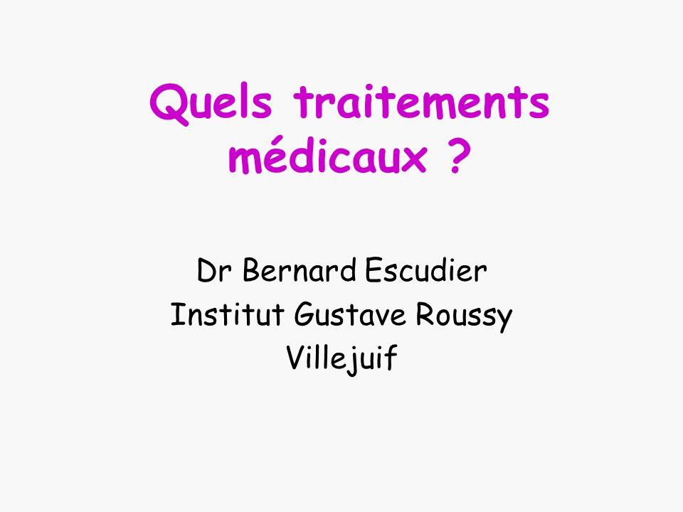 Quels traitements médicaux ? Dr Bernard Escudier Institut Gustave Roussy Villejuif