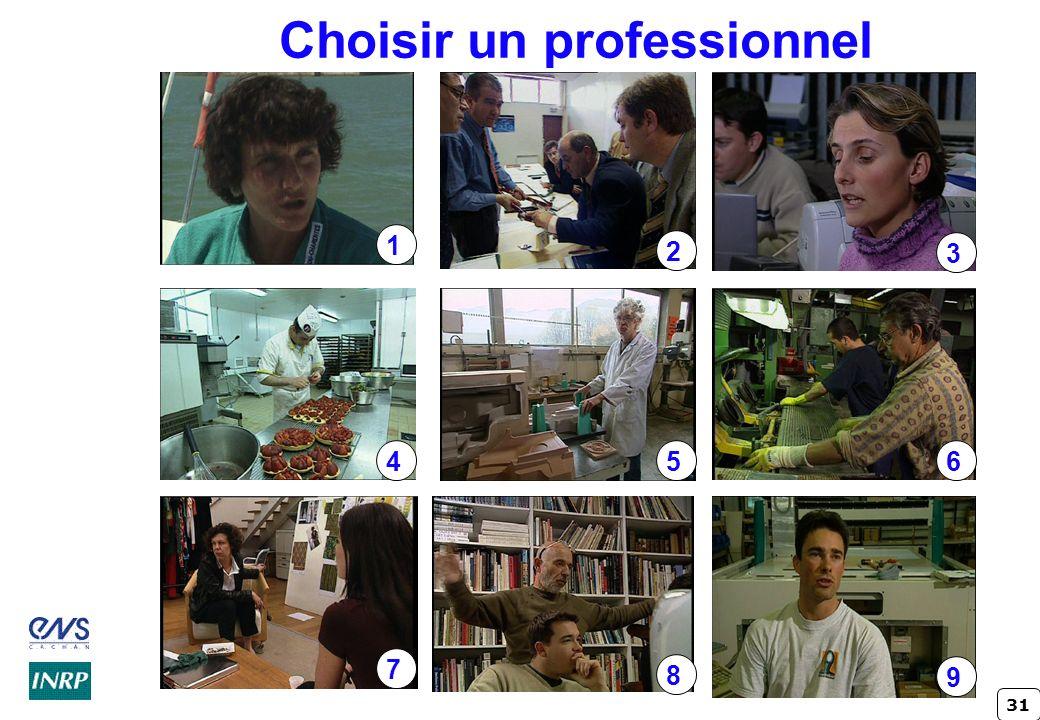 31 Choisir un professionnel 1 2 3 456 7 8 9