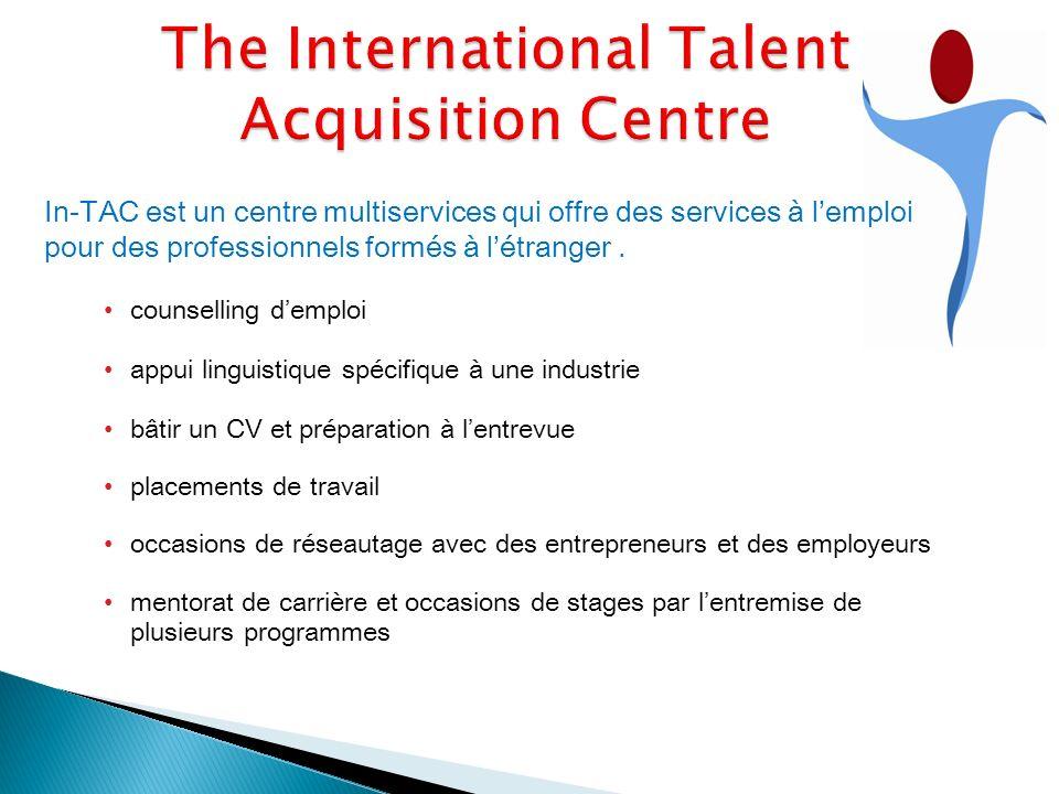 In-TAC est un centre multiservices qui offre des services à lemploi pour des professionnels formés à létranger.