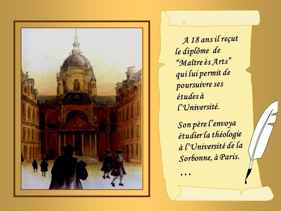 Le jeune Jean- Baptiste, qui avait quinze ans, avait déjà lintention de devenir prêtre.