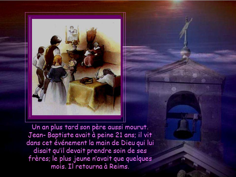 Il navait pas terminé la première partie de ses cours à la Sorbonne, quand il reçut la triste nouvelle de la mort de sa mère quil aimait tant.