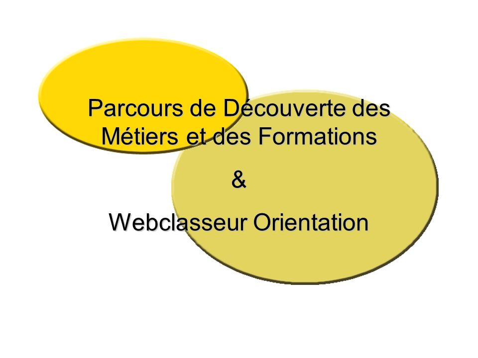 Parcours de Découverte des Métiers et des Formations & Webclasseur Orientation
