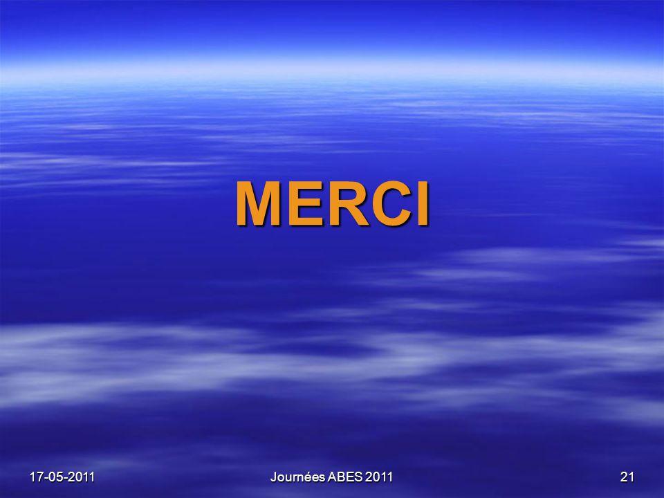 17-05-2011Journées ABES 201121 MERCI